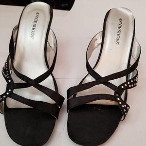 COPY - Black Rhinestone, Clear Acrylic Heels